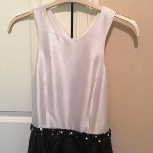 Monique Lhuillier Black and White gown